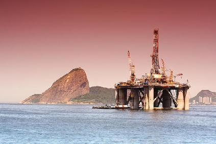 Plataforma petrolífera da Petrobrás no RJ